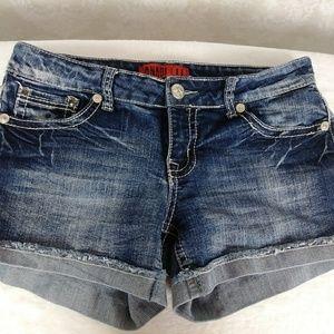 Zanadi Blue Jean Cuffed Short Shorts